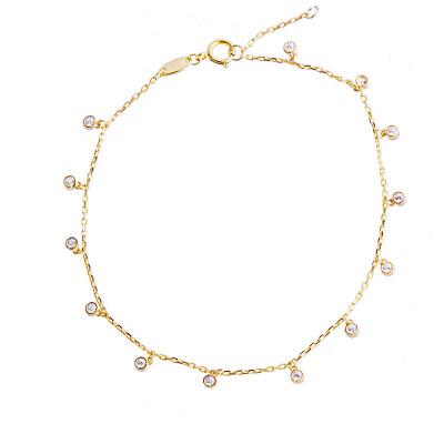 Złota bransoletka z zawieszkami