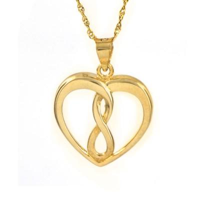 Serce ze znakiem nieskończoności i łańcuszkiem