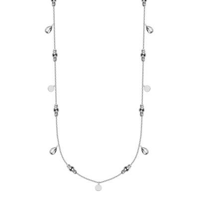 Czarujący srebrny naszyjnik