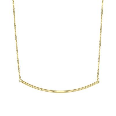 Złoty naszyjnik z szykownym zdobieniem Prezent Grawer GRATIS
