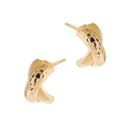 Niecodzienne złote kolczyki Prezent Grawer GRATIS