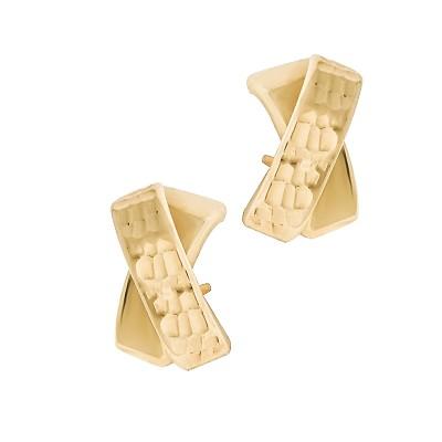 Finezyjne przeplatane złote kolczyki Prezent Grawer GRATIS