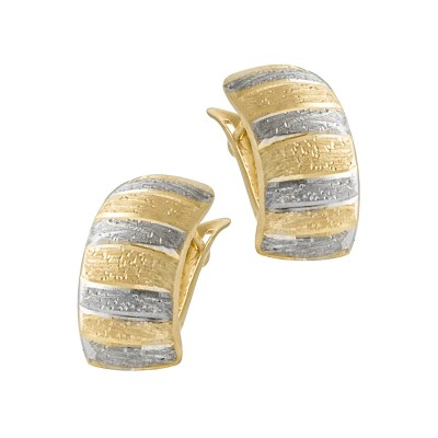 Wyjątkowe złote kolczyki z białym złotem Prezent Grawer GRATIS