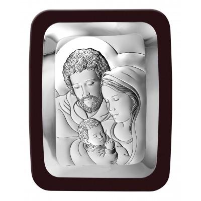 Obrazek srebrny Święta Rodzina Grawer GRATIS