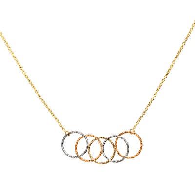 Złoty naszyjnik z oryginalną zawieszką z trzech kolorów złota Prezent Grawer GRATIS