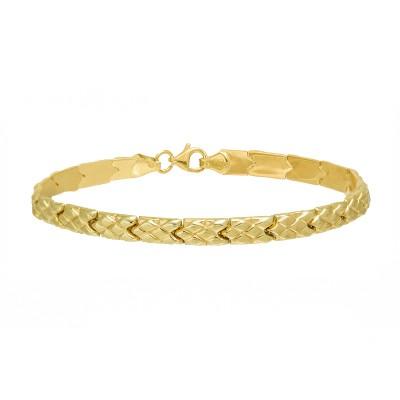 Klasyczna złota bransoletka w ciekawym splocie Prezent Grawer GRATIS
