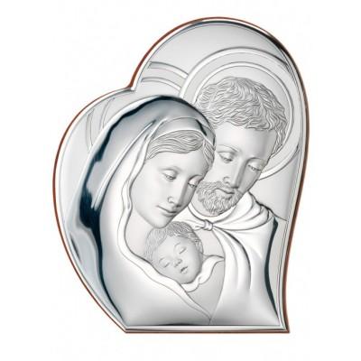 Srebrny obraz sakralny Święta Rodzina Prezent Grawer GRATIS