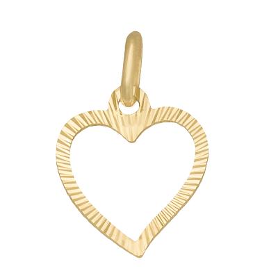 Złota zawieszka diamentowane Serce