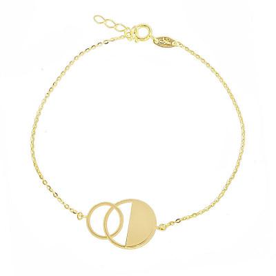 Złota bransoletka ozdobne kółeczka