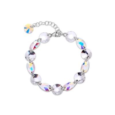 Bransoletka SPARK na łańcuszku z kryształów Swarovski® w kolorach Crystal i Aurore Boreale