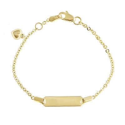Złota bransoletka z sercem
