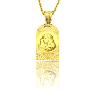 Diamentowany medalik z żółtego złota