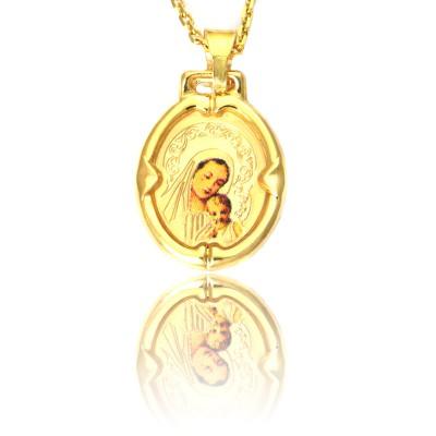 Złoty medalik z Madonną i dzieciątkiem