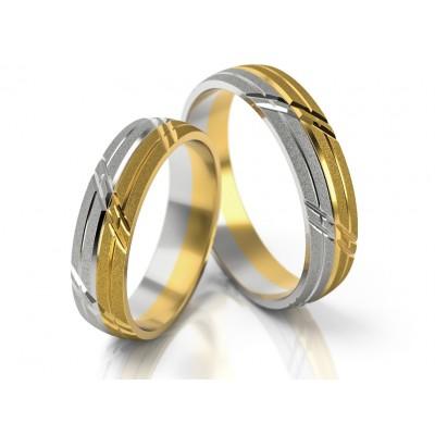 Obrączki ślubne z nietypowym designie wykończenia