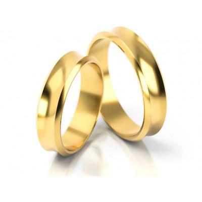 Klasyczne złote obrączki ślubne