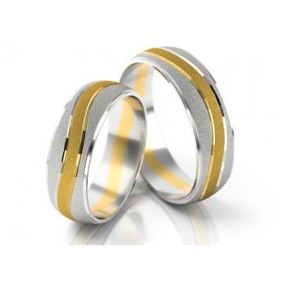 Dwubarwne obrączki ślubne o ciekawym wzorze