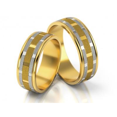 Dwukolorowe obrączki ślubne o eleganckim wykończeniu