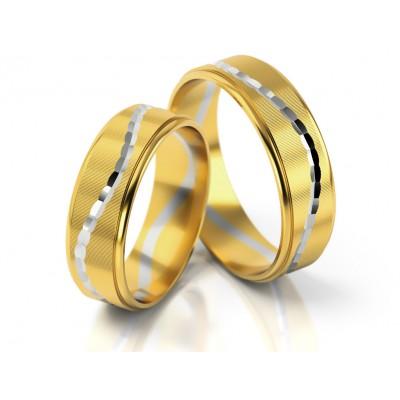 Dwukolorowe obrączki ślubne o awangardowej stylizacji