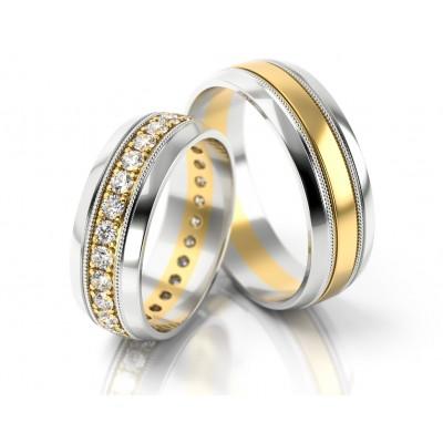 Szykowne dwubarwne obrączki ślubne
