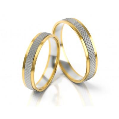 Ślubne dwukolorowe obrączki