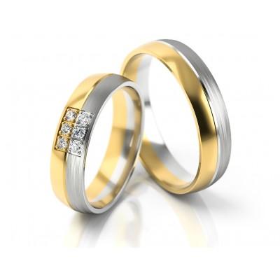 Wytworne obrączki ślubne zdobione kamieniami