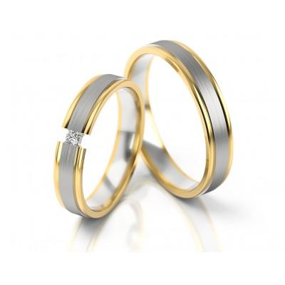 Obrączki ślubne złote satynowe i polerowane