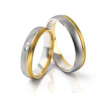 Stylowe obrączki ślubne złote dwukolorowe