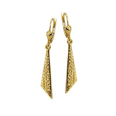 Eleganckie diamentowane złote kolczyki