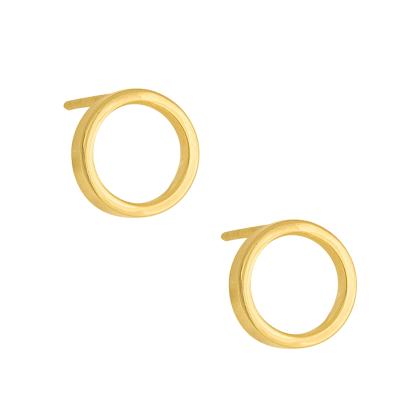 Złote kolczyki kółeczka na sztyfcie