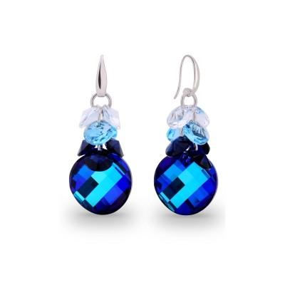 Kolczyki SPARK z kryształów Swarovski® w kolorach Bermuda Blue, Aquamarine, Crystal i Denim Blue