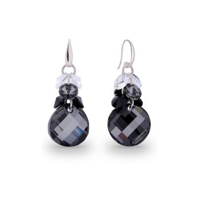 Kolczyki SPARK z kryształów Swarovski® w kolorach Silver Night, Crystal i Jet