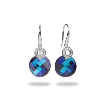Kolczyki SPARK z kryształów Swarovski® w kolorach Bermuda Blue