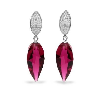 Kolczyki SPARK z kryształów Swarovski® w kolorze Ruby