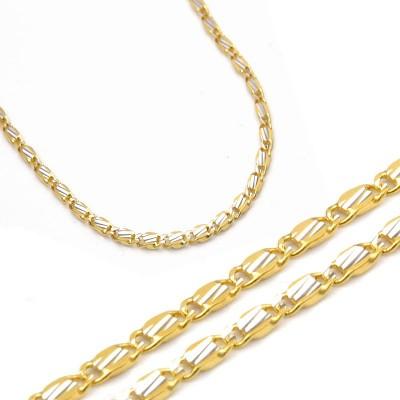 Złoty diamentowany łańcuszek