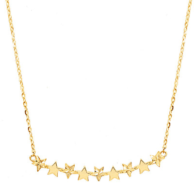 Złoty naszyjnik z gwiazdkami