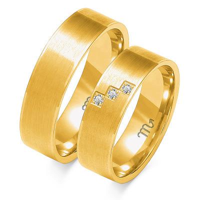 Obrączki ślubne z żółtego złota wyrafinowanie zdobione