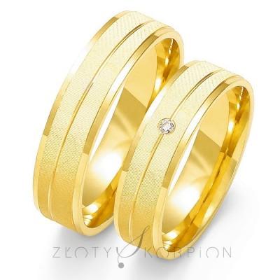 Obrączki ślubne z żółtego złota z eleganckim wykończeniem