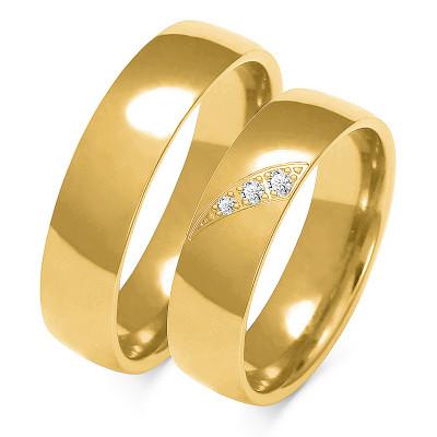 Obrączki ślubne złote, szerokość 5,50 mm