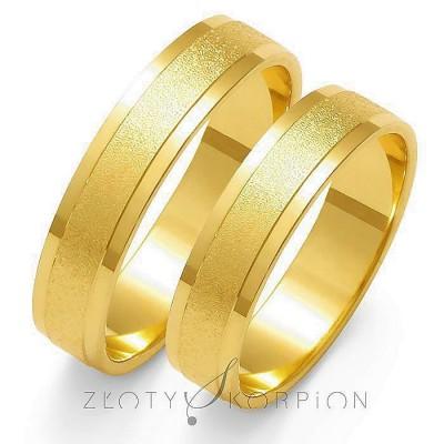 Jednobarwne stylowe obrączki ślubne