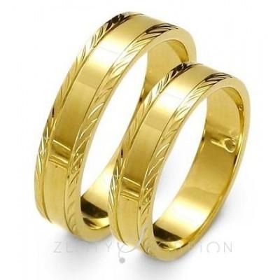 Tradycyjne obrączki ślubne z diamentowanymi brzegami