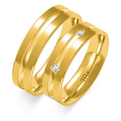 Obrączki ślubne z białego złota ze zdobieniem