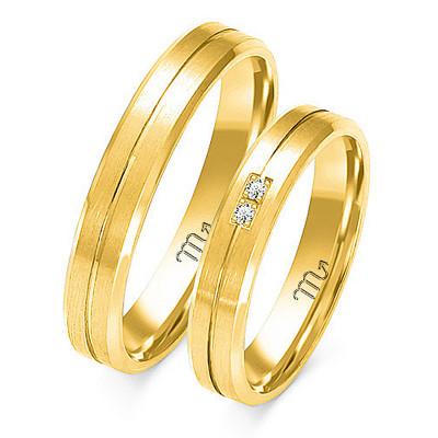 Obrączki ślubne z białego złota klasyczne i szykowne