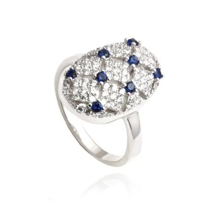 Szykowny srebrny pierścionek