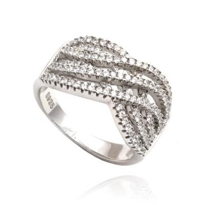 Fantazyjny srebrny pierścionek