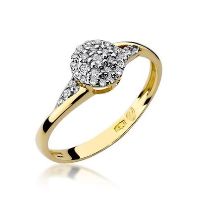 Szykowny pierścionek zaręczynowy z diamentami