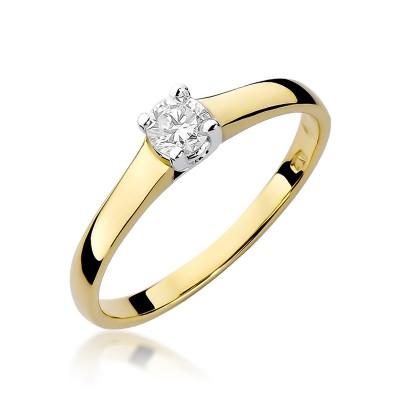 Niesamowity złoty pierścionek z okazałym diamentem