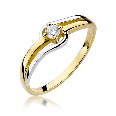 Fenomenalny złoty pierścionek z brylantem