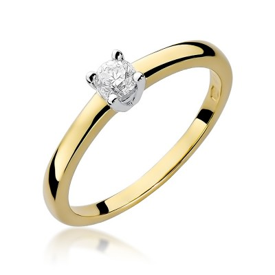 Klasyczny pierścionek zaręczynowy z diamentem