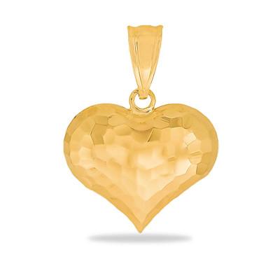 Złota zawieszka serduszko diamentowane