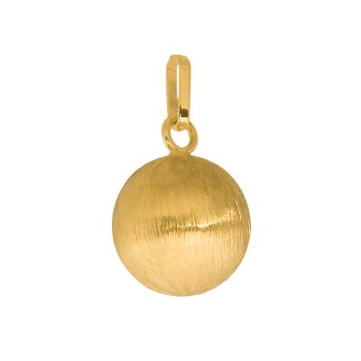 Złota zawieszka matowa kulka